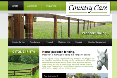 Countrycare fencing company in suffolk